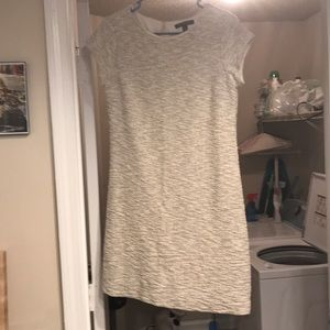 Grey& white w/ gold speckled banana republic dress